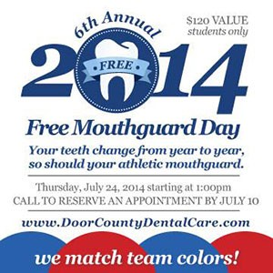 Door County Dental Care Mouthguard Day