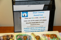 Coloring Contest at Door County Dental Care Dentists Office in Sturgeon Bay, WI