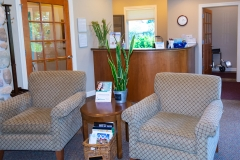 Waiting Area and Reception of Door County Dental Care Dentists Office in Sturgeon Bay, WI