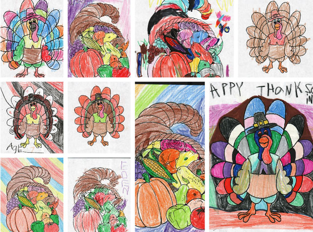 November Coloring Contest Entries at Door County Dental Care