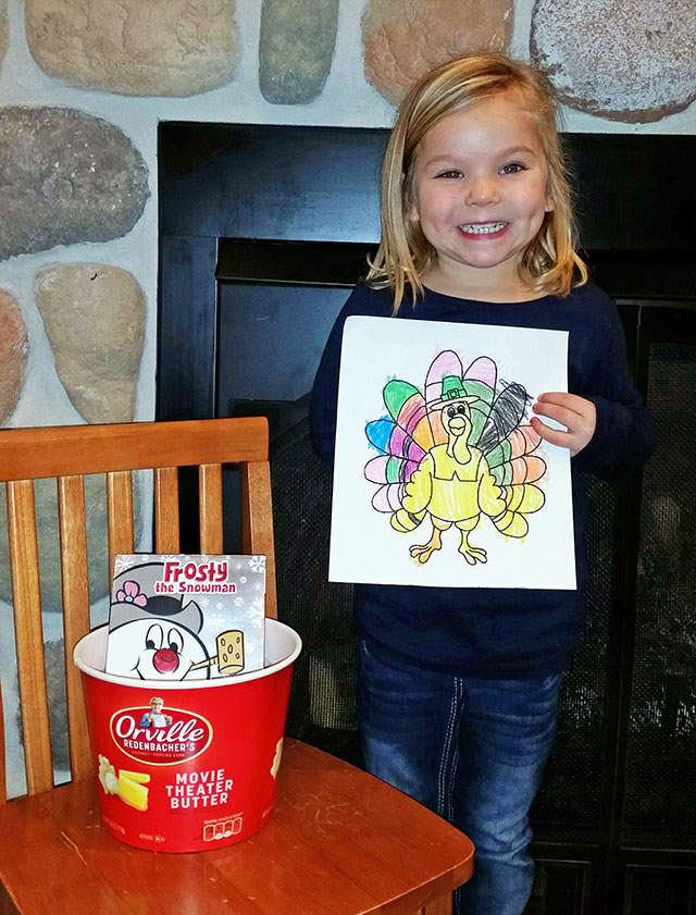 November Coloring Contest Winner at Door County Dental Care