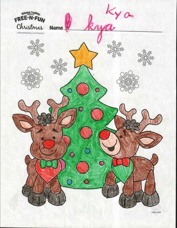 Door County Dental Care Coloring Contest Winner Kya