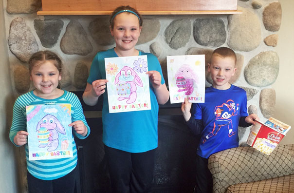 Door County Dental Care March Coloring Contest Winners