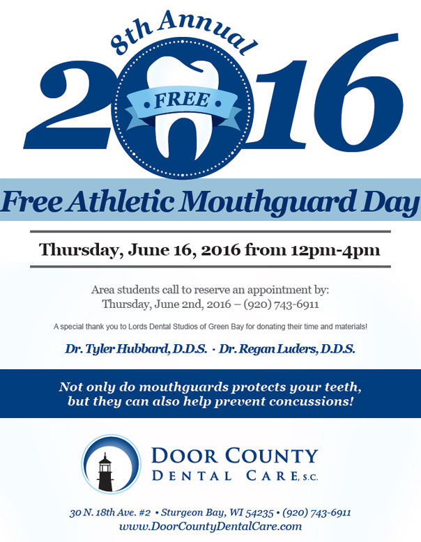 Free Custom Fit Athletic Mouthguards at Door County Dental Care Event