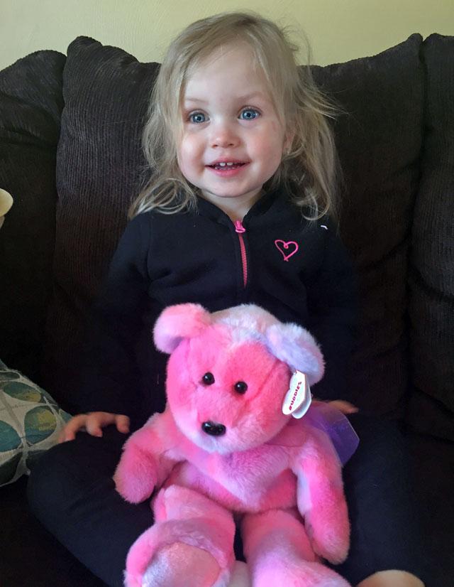 Stuffed Animal Giveaway Winner from Door County Dental Care