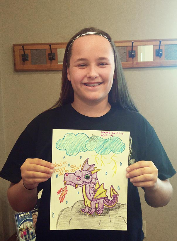August Coloring Contest Winner at Door County Dental Care