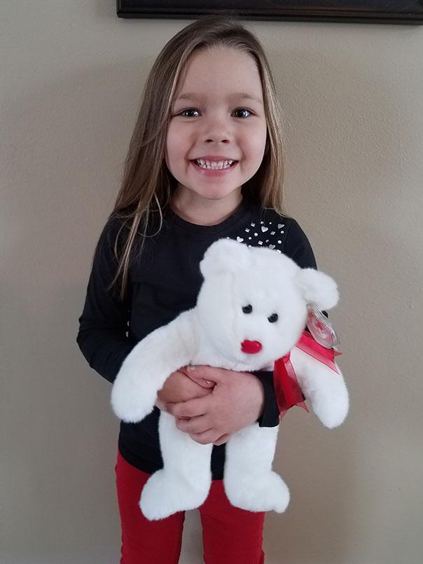 February Stuffed Animal Winner at Door County Dental Care