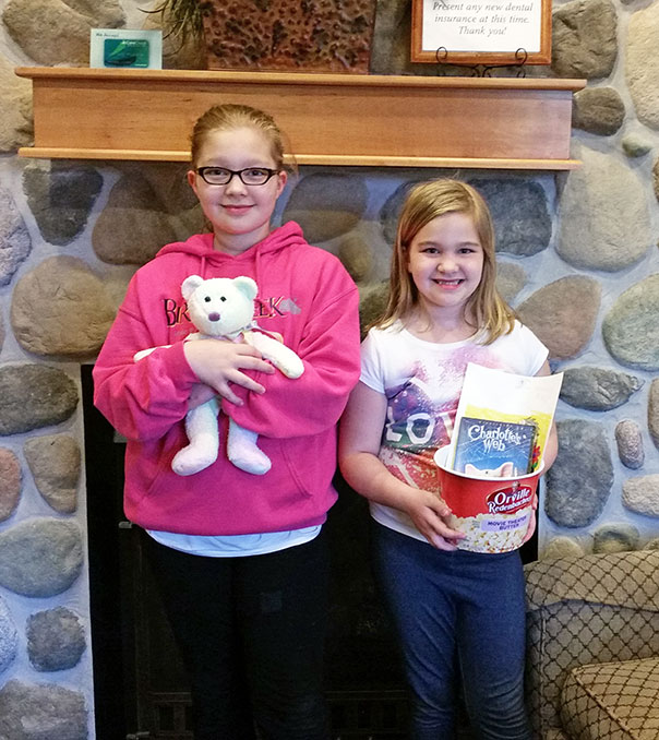 April Coloring Contest Winner at Door County Dental Care