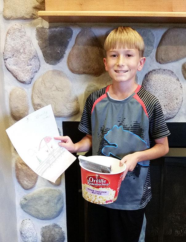 Door County Coloring Contest Winner Brady