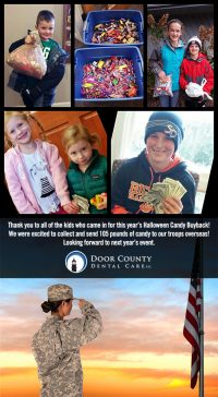 105 Pounds of Candy Collected for the Troops
