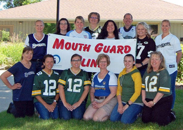 Door County Dental Care teamed up for their 10th Annual Mouthguard Clinic, June 28, 2018